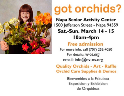 Napa Valley Orchid Society Show and Sale