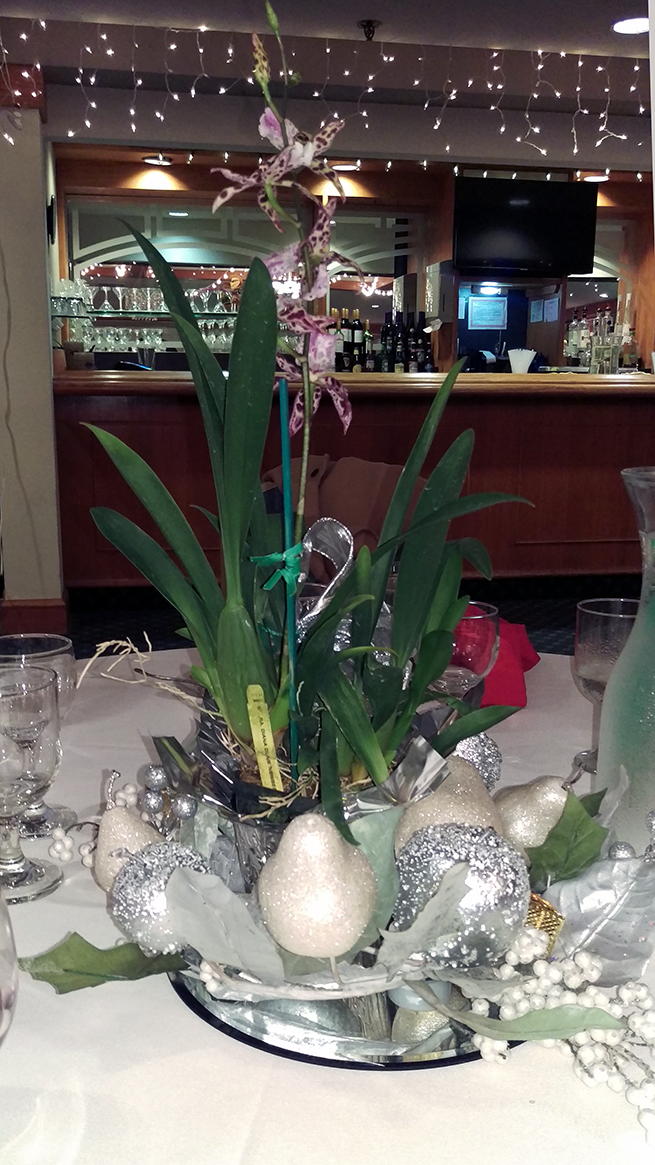 Annual holiday dinner 2016 sonoma county orchid society for Annual dinner decoration