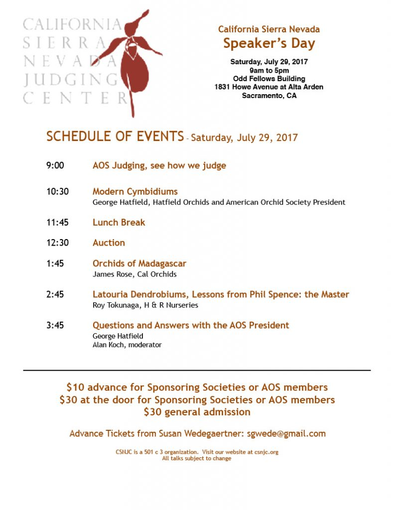 2017-07 CSNJC Speakers Day