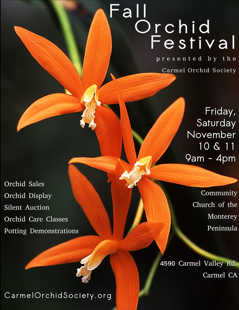 2017 Carmel Orchid Society Show & Sale